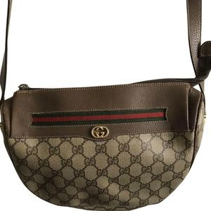 GUCCI Vintage Logo Monogram Print Medium Leather C